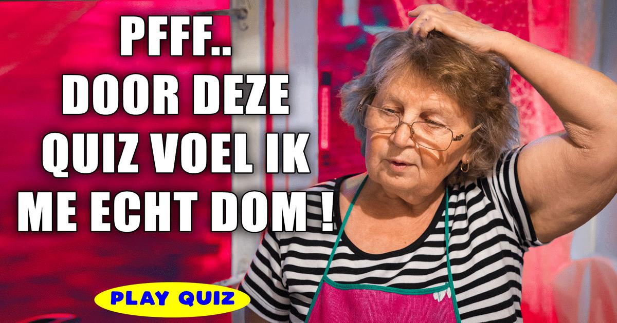 Voel jij je na het maken van deze quiz ook zo dom?
