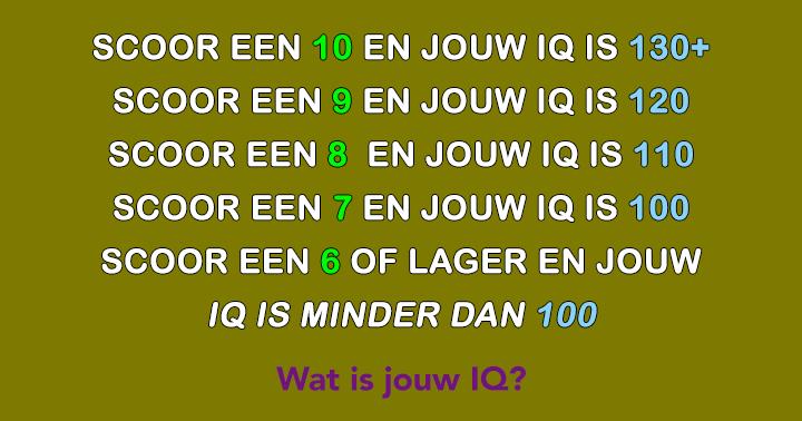 Wat is jouw IQ?