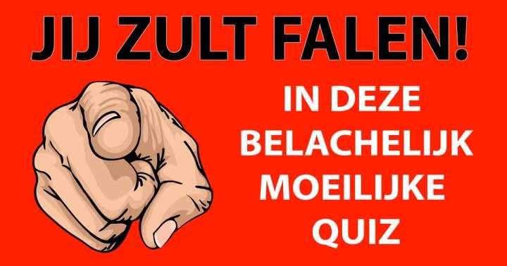 'Belachelijk Moeilijke Quiz'!