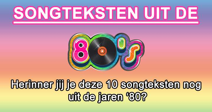 Liedjes uit de jaren '80