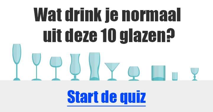 Wat drink je normaal gesproken uit deze glazen?