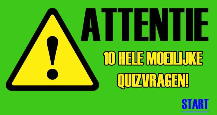 Opgelet: alleen geschikt voor mensen met een IQ van 120+!